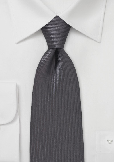 Thin Waled Tie in Espresso Brown