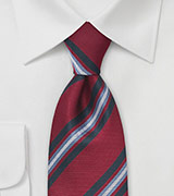 Scholarly Tie in Crimson and Blue