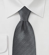 Textured Tie in Black and Pewter