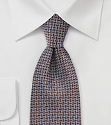 Chevron Patterned Tie in Dark Brown