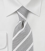 Ivory Necktie with Black Accents