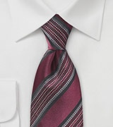 Mahogany Striped Regimental Tie