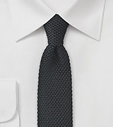 Knit Tie in Classic Black