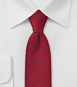 Cherry Red Skinny Knit Tie