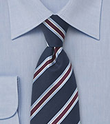 Classic Navy and Light Blue Tie