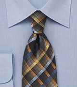 Regal Diamond Patterned Tie in Blacks