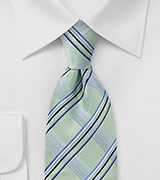 Modern Tie in Wave Crest Green