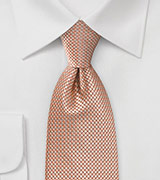 Diamond Patterned Tie in Oranges and Champagnes