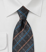 Gray Faded Look Necktie Made from Pure Silk