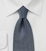 Modern Pin Dot Tie in Dark Navy