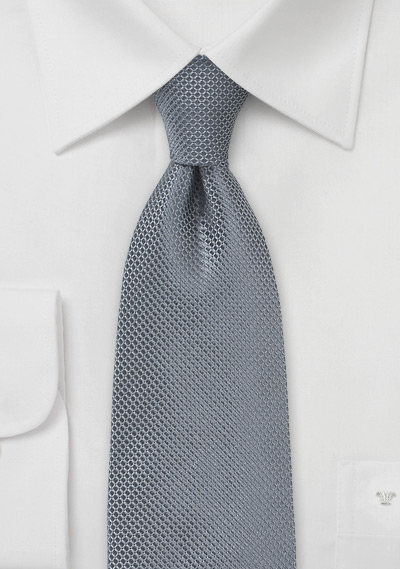 Pure Silk Charcoal Colored Tie