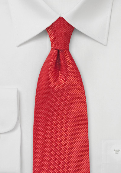 Persimmon Red Silk Tie for Kids
