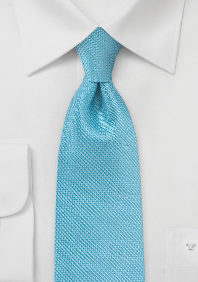 Sailboat Blue Necktie Made of Pure Silk