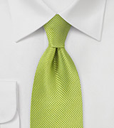 Bright Key Lime Silk Tie in XL