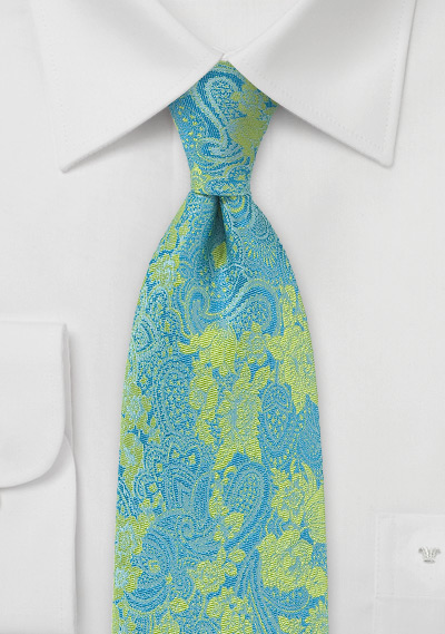 Pure Silk Paisley and Floral Tie