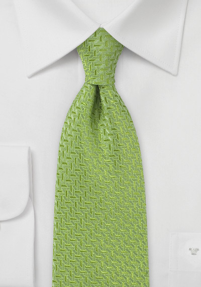Art Deco Tie in Spring Green