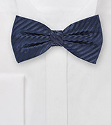 Radiant Midnight Blue Bowtie in Silk