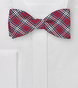 Plaid Bow Tie in Red, Yellow, White, and Blue
