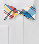 Madras Bow Tie in Fine Cotton