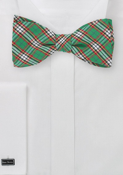 Scottish Tartan Plaid Bow Tie