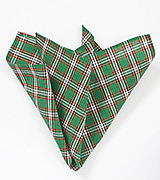 Green and Red Tartan Plaid Handkerchief