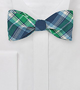 Scottish Tartan Bow Tie in Cotton