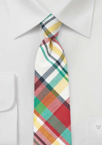 Colorful Madras Summer Tie