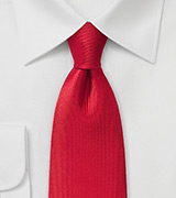 Vertical Whaled Textured Tie in Red