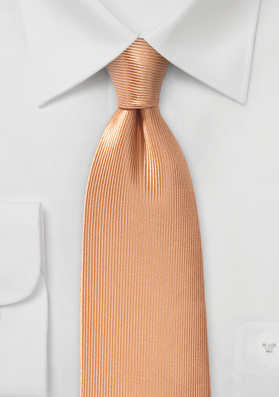 Textured Silk Tie in Peach