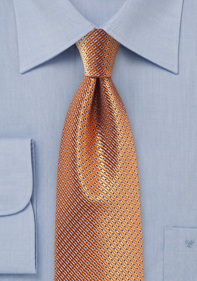 Rose Gold Colored Silk Tie