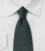 Textured Wool Tie in Smoke Gray and Green
