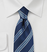 Blue Striped Tie by Parsley