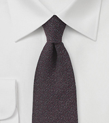 Espresso Brown Matte Textured Silk Tie