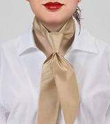Womens Necktie in Golden Champagne