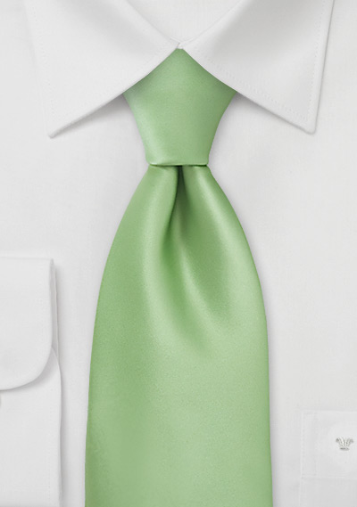Boys Necktie in Light Key Lime