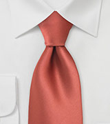 Cognac Orange Color Tie in XL Length
