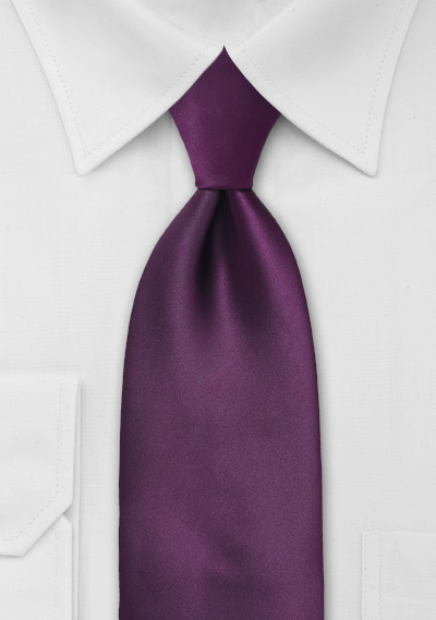 Berry Purple Mens Tie