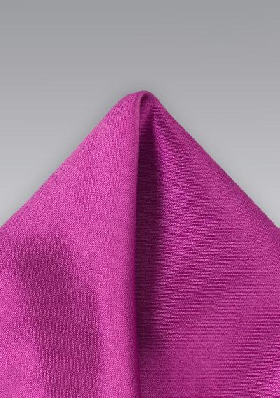 Solid Pocket Square in Dark Magenta
