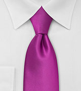XL Length Tie in Dark Magenta Pink