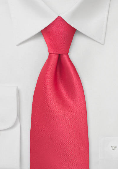Bright Lollipop Red Necktie