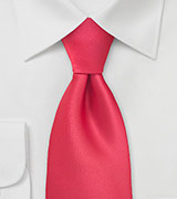 XL Length Tie in Bright Lollipop Red