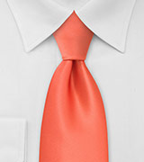 Bright Coral Orange XL Tie