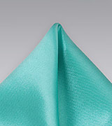Solid Mint Green Pocket Square