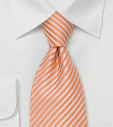 Tangerine Necktie in Extra Long