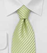 Bright Green Tie<br>Lime Green Tie With Fine Stripes