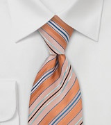 Orange, Blue, Turquoise Tie
