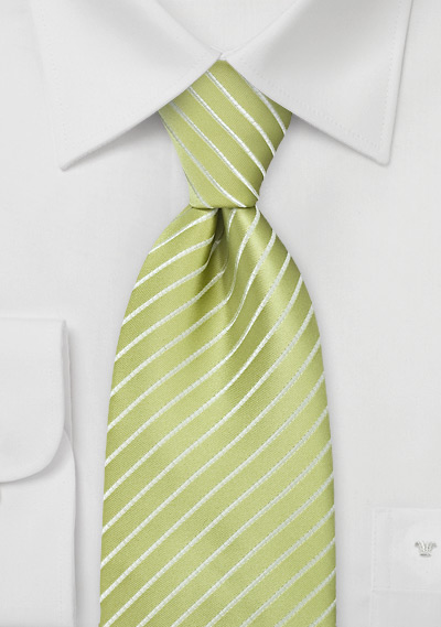 Bright Lime Green Striped Tie