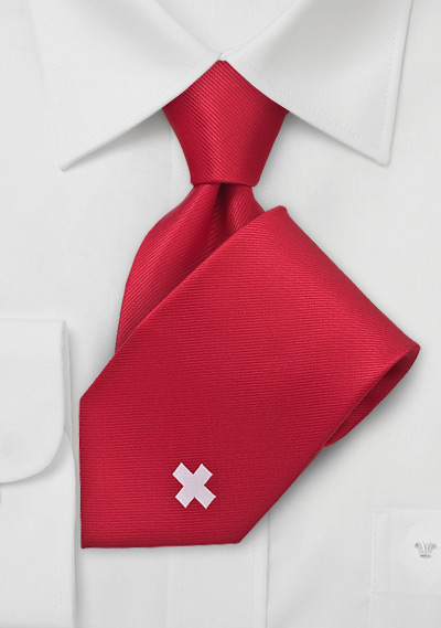 Switzerland Soccer Fan Tie
