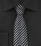 Modern Dotted Skinny Tie