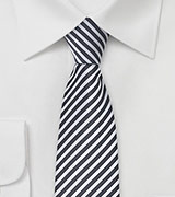 Skinny Tie in Espresso and Ivory